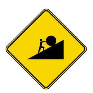 Pushing A Rock Uphill